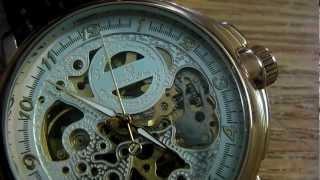 getlinkyoutube.com-Kronen & Söhne Skeleton Watch, Up Close