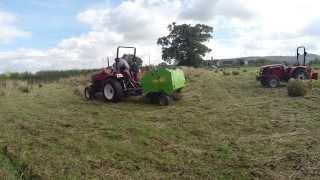 Baling Hay with Siromer Tractors
