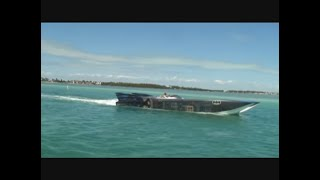 getlinkyoutube.com-48 MTI boats cruising 156 mph in Miami Poker run 2010