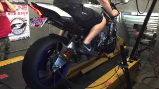 getlinkyoutube.com-2015 yamaha R1M akrapovic exhaust base dyno run.