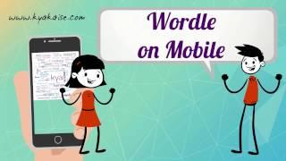 Wordle Tutorial. Create Wordle Cloud from Mobile. Wordle Mobile par kaise banate hain? Hindi video