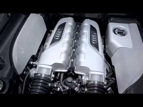 Как звучит двигатель Audi R8 V10 на стенде для тестирования