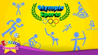 getlinkyoutube.com-Kids vocabulary - Olympic Sports - Game of Sports - Learn English for kids - educational video