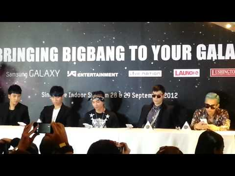 [Fancam] Big Bang Press Conference in Singapore