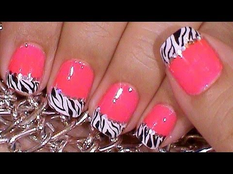 Uñas Decoradas De Zebra Sencillas Y Rapidas