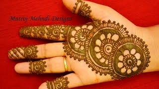 beautiful easy simple henna mehndi designs for hands: Matroj Mehndi designs