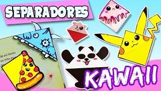 Como hacer SEPARADORES de libros KAWAII * Marcapáginas de papel