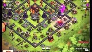 getlinkyoutube.com-[Savage 8.9] Clash of Clans TH9 vs TH10 LOONION!