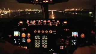 getlinkyoutube.com-Brussels Airlines Avro RJ100 BRU to OSL cockpit takeoff and landing FULL HD
