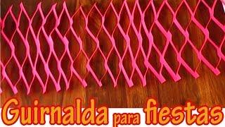 getlinkyoutube.com-Adorno colgante para fiestas 4 - Guirnalda - Manualidades para todos