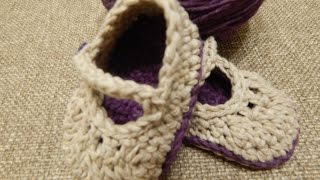 getlinkyoutube.com-Zapatitos Crochet