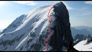 getlinkyoutube.com-Marmolada Cresta Ovest - discesa con gli sci - extreme skiing