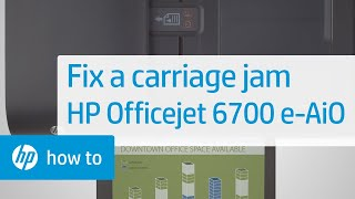 getlinkyoutube.com-Fixing a Carriage Jam - HP Officejet 6700 Premium e-All-in-One Printer (H711n)