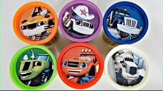 getlinkyoutube.com-Blaze and the Monster Machines Play doh Toy Surprises, Hot Wheels, Cars, Learn Colors / TUYC