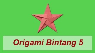 getlinkyoutube.com-Cara Membuat Origami Bintang 5 (Non-Moduler)