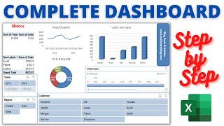 getlinkyoutube.com-Step by step instructions to make an Excel Dashboard : Excel Dashboards Tutorial