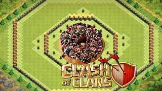 getlinkyoutube.com-Clash Of Clans - TH 10 Hybrid/Farming Base - Donut Base