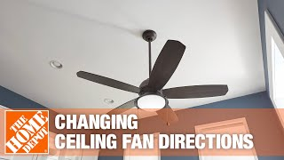 A video on selecting the correct ceiling fan direction for the season