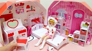 getlinkyoutube.com-リカちゃん ハローキティだいすき リカちゃんのおへや / Licca-chan Doll Hello Kitty House
