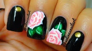 Rose & Studs Nail Art Tutorial