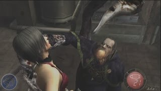 "Resident Evil 4 HD: (HD) ""Seperate Ways/The Another Order"" Ada Wong Deaths Ryona!"