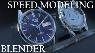 getlinkyoutube.com-SEIKO5 | Blender Timelapse Speed Modeling モデリング