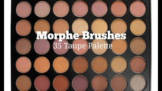 getlinkyoutube.com-Morphe Brushes 35T Taupe Palette Swatches