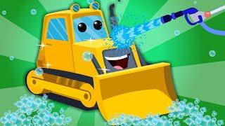 getlinkyoutube.com-Bulldozer | Car Wash | Construction Vehicle
