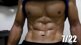 getlinkyoutube.com-【腹筋フェチ必見!】約1ヶ月間食事と筋トレ頑張った結果!!腹筋の推移。