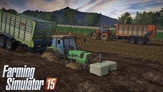 Kiszonka 2015 i wielka wtopa na PGR MafiaSolec ☆ Farming Simulator 2015 ㋡ Let's Play #29 MP