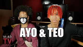 Ayo & Teo on Dancing with Chris Brown, Teaching Usher Dance Moves width=