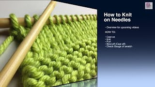 How to Knit - Cast On Beginner (with closed captions) start knitting