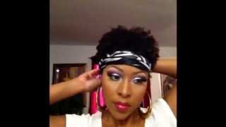 getlinkyoutube.com-Ways To Wear A Scarf With Short Natural Hair 4b 4c