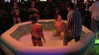 getlinkyoutube.com-HOT Girls All Oiled Up to WRESTLE - Oil Wrestling at The Ugly Dog Sports Cafe