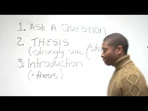 do essays need a thesis