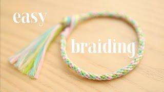 Braiding: easy round cord / круглое плетение ЛЕГКО!