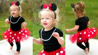 DIY Minnie Mouse Costume for Toddlers | Lacey's Halloween Outfit!!