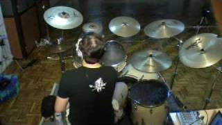 getlinkyoutube.com-Saliva - I Walk Alone drum cover (Batista's theme)