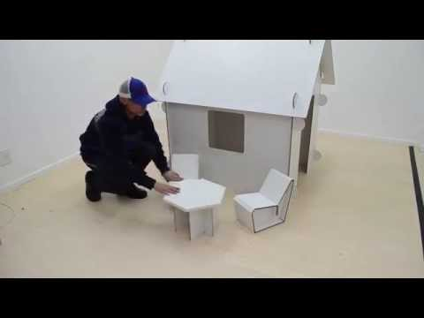 Kiddies Doll House with Furniture made out of X-Board