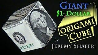 getlinkyoutube.com-Giant $1 Origami Cube