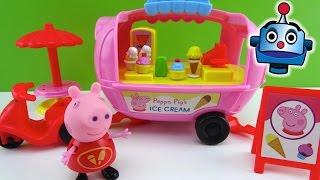 getlinkyoutube.com-Peppa Pig Furgoneta de los Helados Peppa Pig's Theme Park Ice Cream Van - Juguetes de Peppa Pig