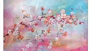getlinkyoutube.com-Tutorial: Kirschblüten malen (Anfänger) Cherry Blossoms(beginners)