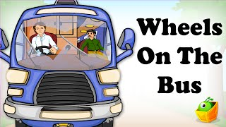 getlinkyoutube.com-The Wheels On The Bus Go Round and Round | English Song | Animated Nursery Rhymes For Children