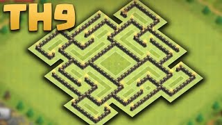 getlinkyoutube.com-Clash of clans - Town Hall 9 (TH9) Farming Base (The Maze) 2016 + Replays