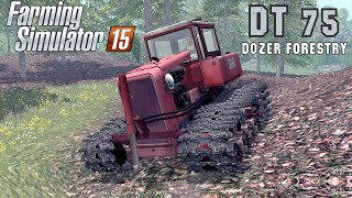 getlinkyoutube.com-Farming Simulator 2015 mod crawler tractor DT 75 DOZER FORESTRY