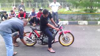 getlinkyoutube.com-Test drag bike Gerobak racing team by 4cenk medan