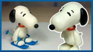 "getlinkyoutube.com-Лепим Снупи из мультфильма ""Снупи и мелочь пузатая"" из пластилина. Snoopy. The Peanuts Movie"