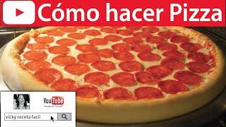 getlinkyoutube.com-Cómo hacer PIZZA   Vicky Receta Fácil