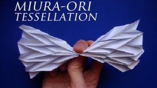 getlinkyoutube.com-Miura-Ori Origami Tessellation Tutorial