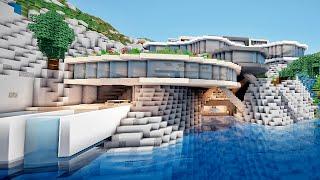 getlinkyoutube.com-MINECRAFT Enorme Maison Moderne sur une Falaise ! :)